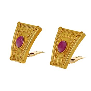 Shield & Ruby Earrings