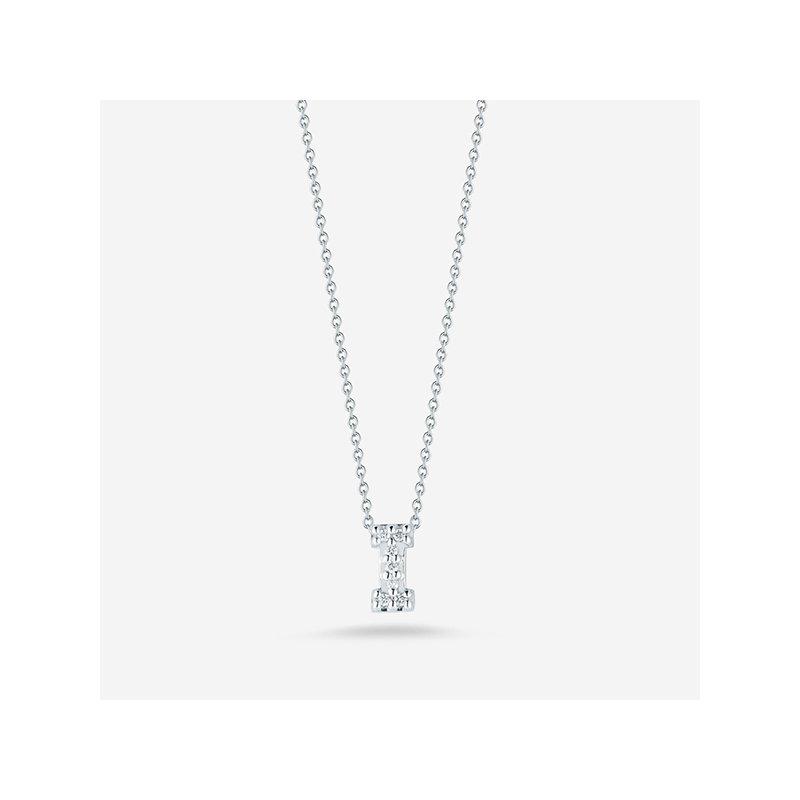 "Roberto Coin Diamond ""I"" Pendant"