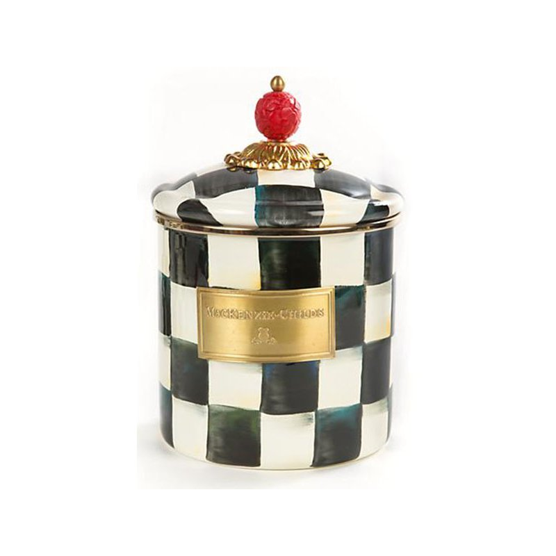 Mackenzie-Childs Courtly Check Enamel Canister, Small