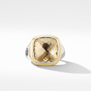 Albion Ring with Champagne Citrine and 18K Yellow Gold