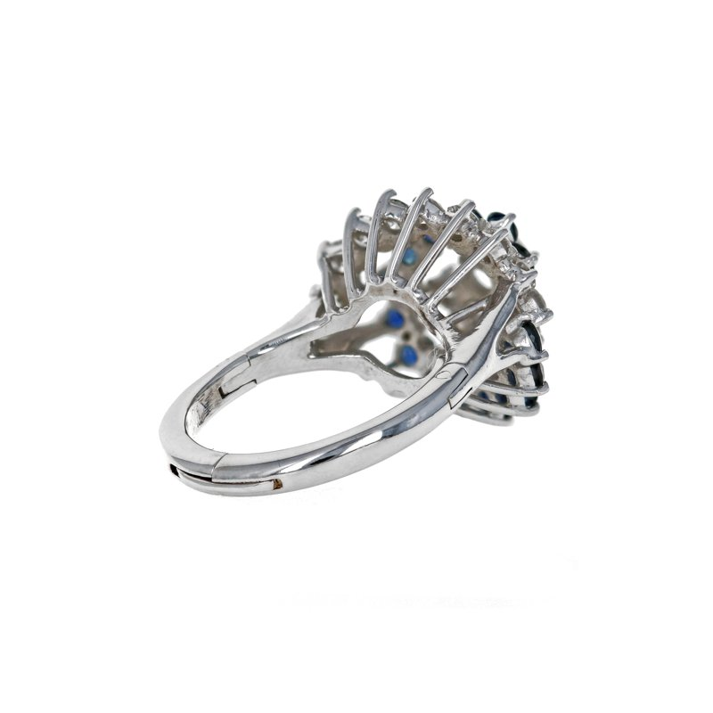 Estate Radcliffe Diamond & Sapphire Swirl Ring