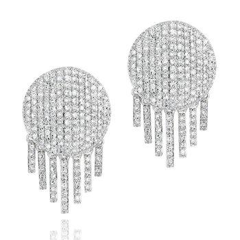 Infinity Fringe Stud Earrings