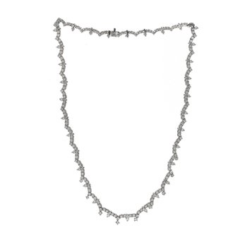 Scalloped Diamond Necklace