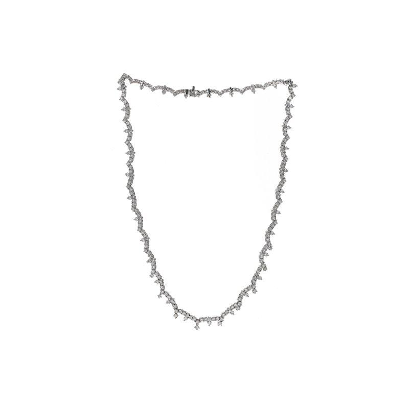 Estate Radcliffe Scalloped Diamond Necklace