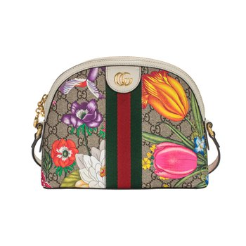 Ophidia Small GG Flora Shoulder Bag