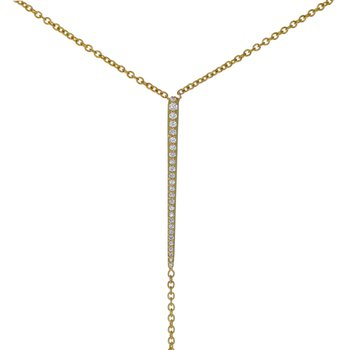 """Bar """"Y"""" Diamond Necklace"""