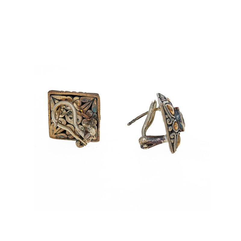 Estate Radcliffe Citrine Square Earrings