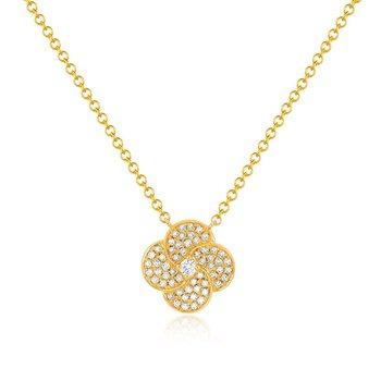 Diamond Jumbo Petal Necklace