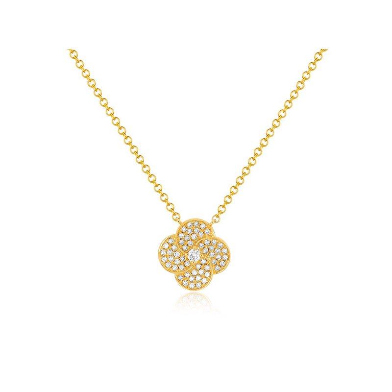 EF Collection Diamond Jumbo Petal Necklace