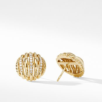 Tides Stud Earrings in 18K Yellow Gold with Diamonds