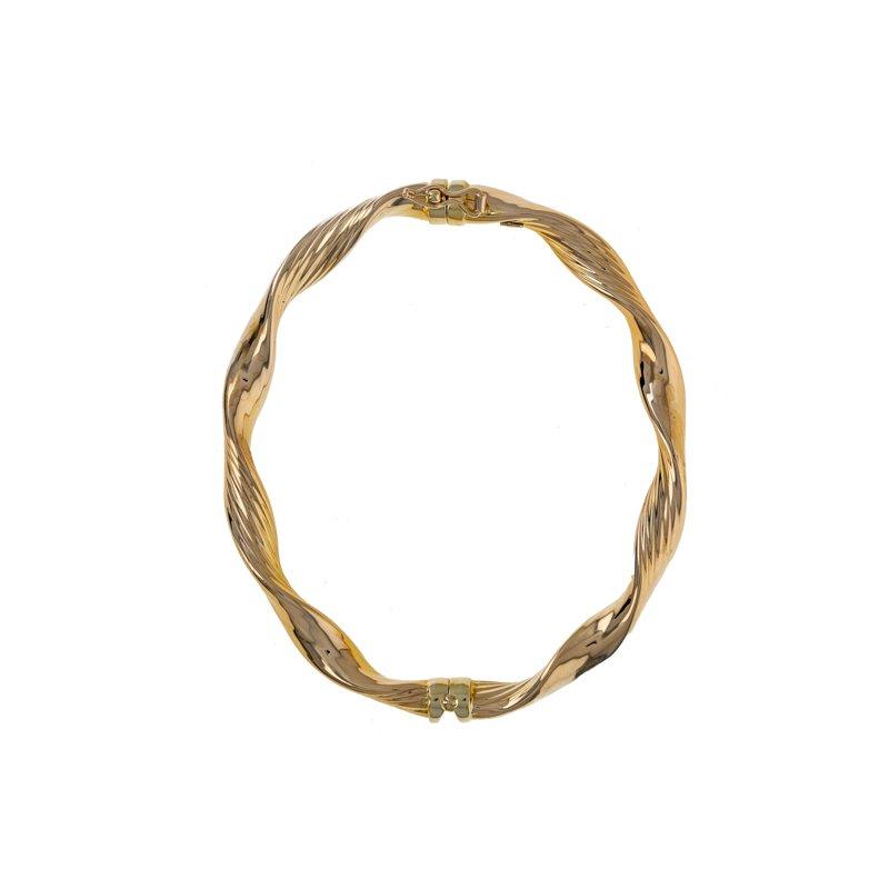 Estate Radcliffe Hollow Twisted Bangle Bracelet