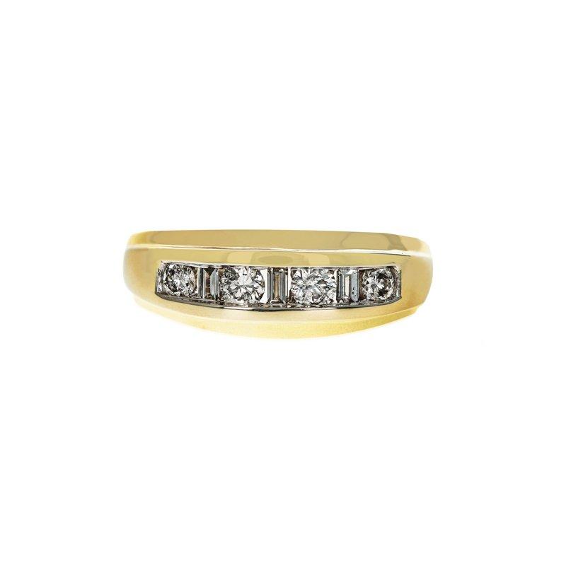 Estate Radcliffe Round & Baguette Diamond Ring