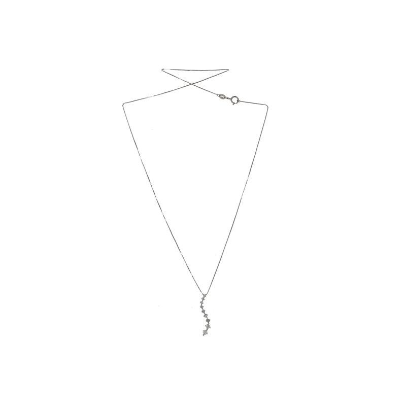 Estate Radcliffe Princess Cut Diamond Journey Necklace