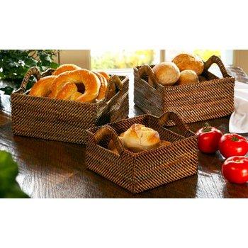 Square Woven Bread Basket Medium