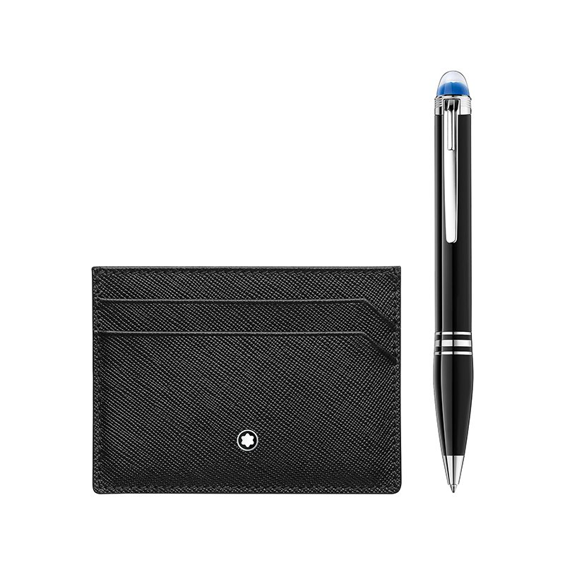 Montblanc Gift Set with StarWalker Resin Ballpoint and Montblanc Sartorial Pocket Holder