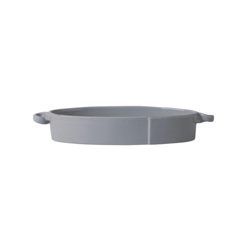 Vietri Lastra Gray Handled Oval Baker