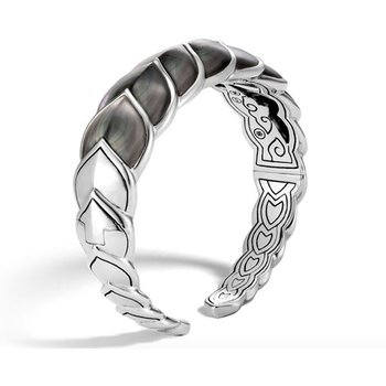 Naga Cuff with Grey Mother-of-Pearl