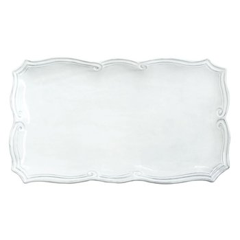 Incanto White Baroque Rectangular Platter