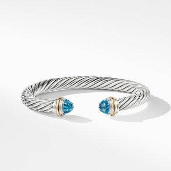 Bracelet with Blue topaz and 14K Gold