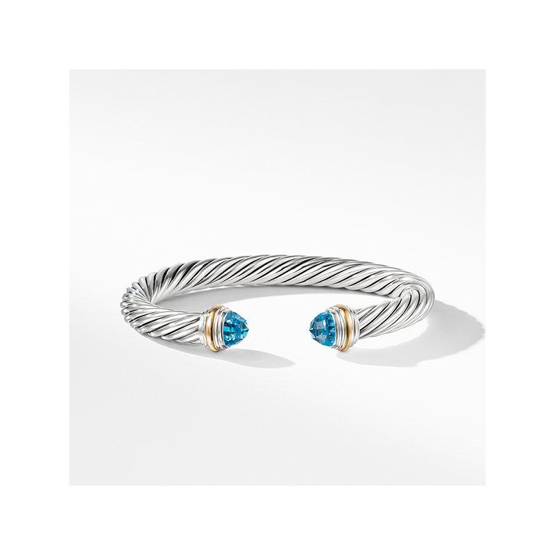 David Yurman Bracelet with Blue topaz and 14K Gold