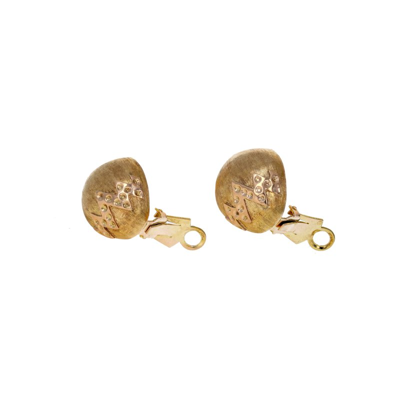 Estate Radcliffe Hollow Egg Shaped Earrings