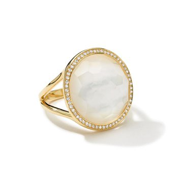 Lollipop Medium Ring in Mother-of-Pearl
