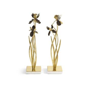 Black Iris Candleholders-Set of 2