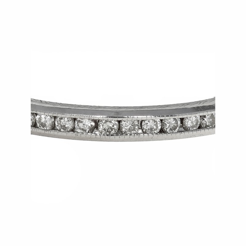 Estate Radcliffe Hand Engraved Channel Set Diamond Eternity Band