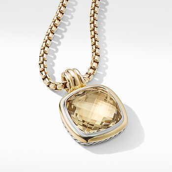 Albion Pendant with Champagne Citrine and 18K Yellow Gold