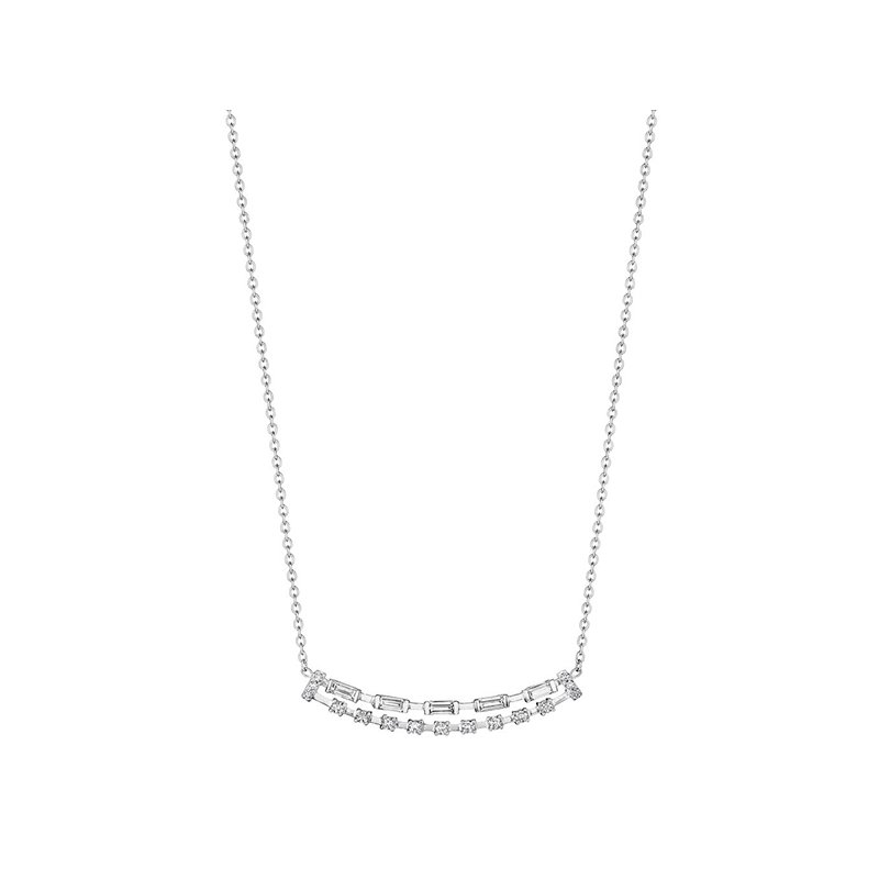 Penny Preville Baguette & Round Double Bar Necklace