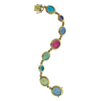 Small Oval Venetian Glass Intaglio Bracelet