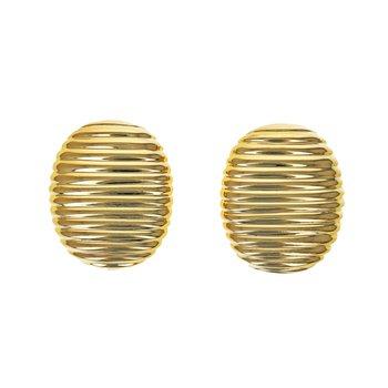 Oval Fluted Earrings