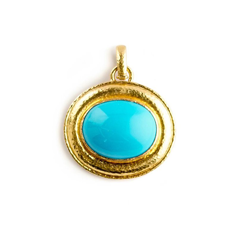 Elizabeth Locke Sleeping Beauty Turquoise Pendant