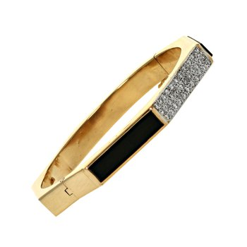 Diamond & Onyx Octagon Bangle