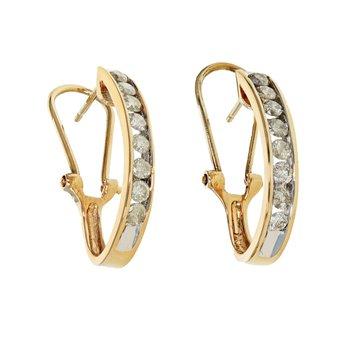 Half Hoop Diamond Earrings