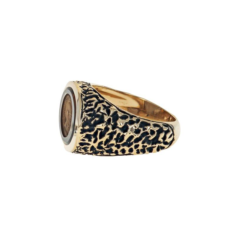 Estate Radcliffe Carved Topaz Signet Ring