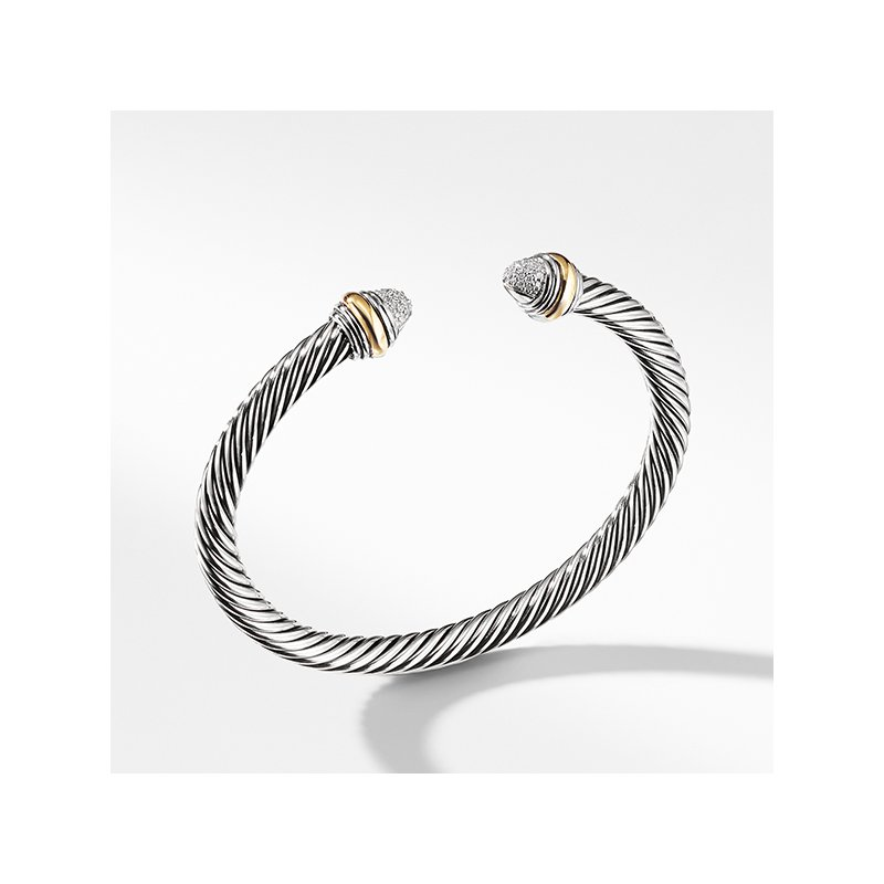 David Yurman Cable Classics Collection Bracelet with Diamonds and 14K Gold