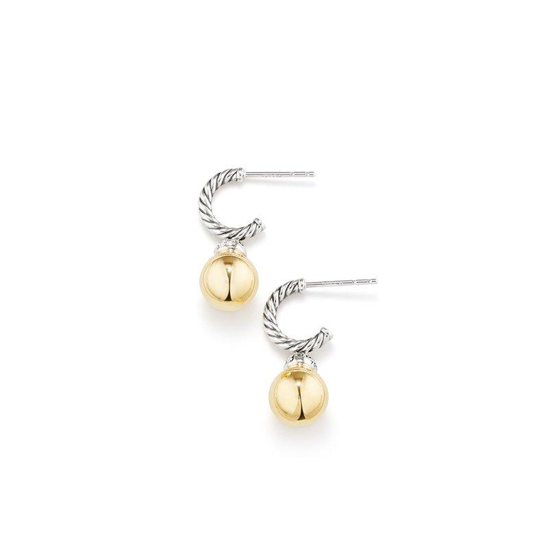 David Yurman Solari Drop Earrings with Diamonds and 18K Gold