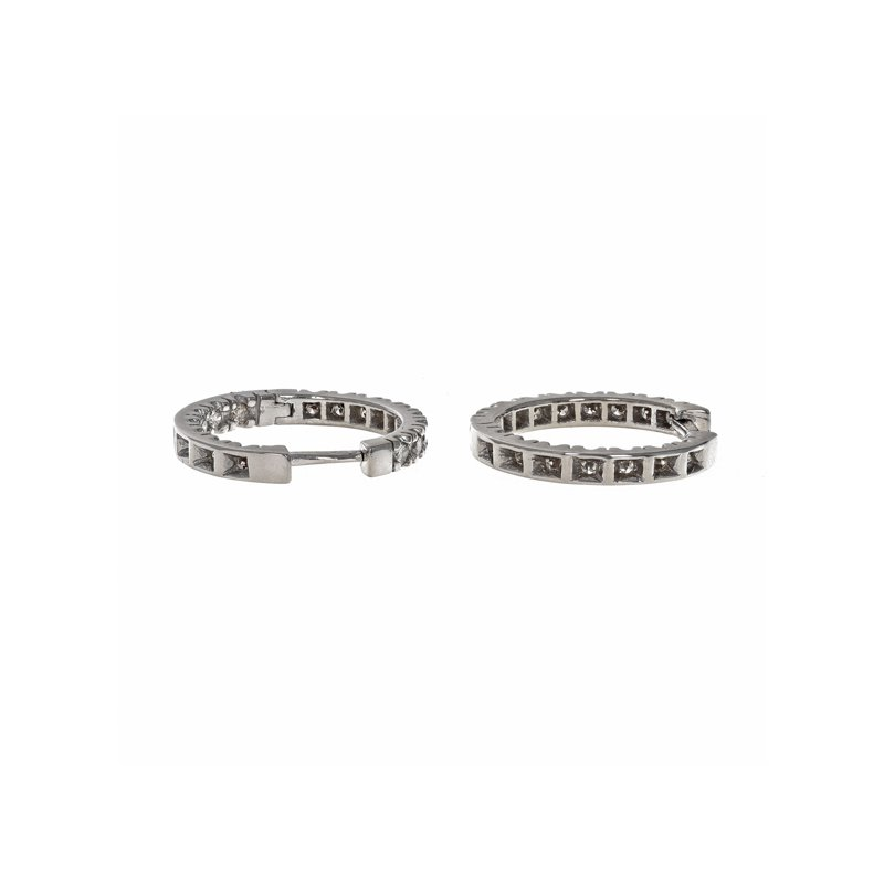 Estate Radcliffe Diamond In & Out Hoop Earrings