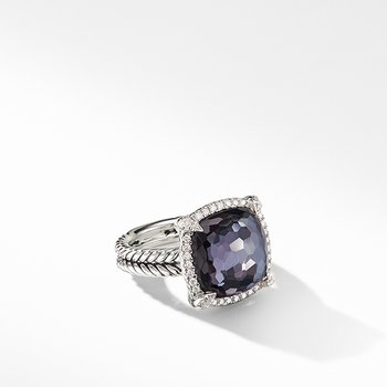 Chatelaine Pave Bezel Ring Black Orchid