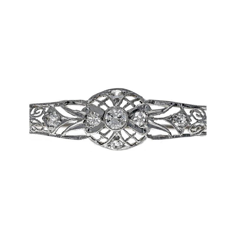 Estate Radcliffe 1930's Diamond Bar Pin