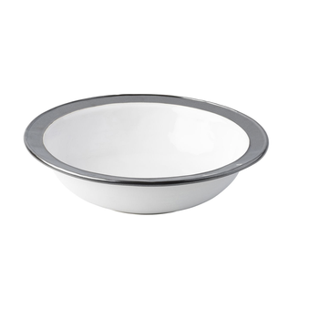 Emerson White & Pewter Serving Bowl