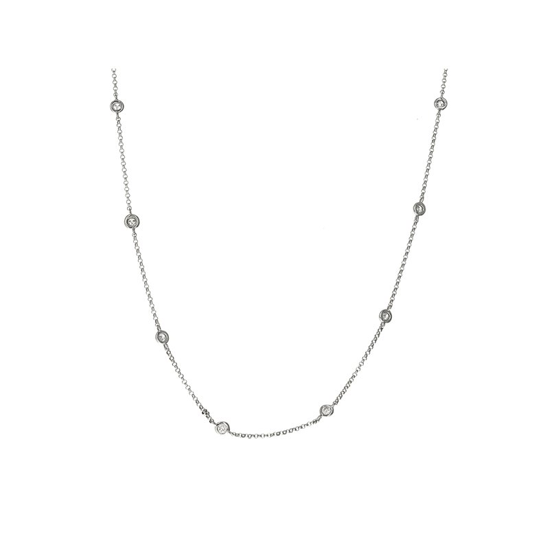 Estate Radcliffe Diamond-By-The-Yard Necklace