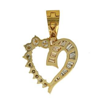 Open Heart Diamond Pendant