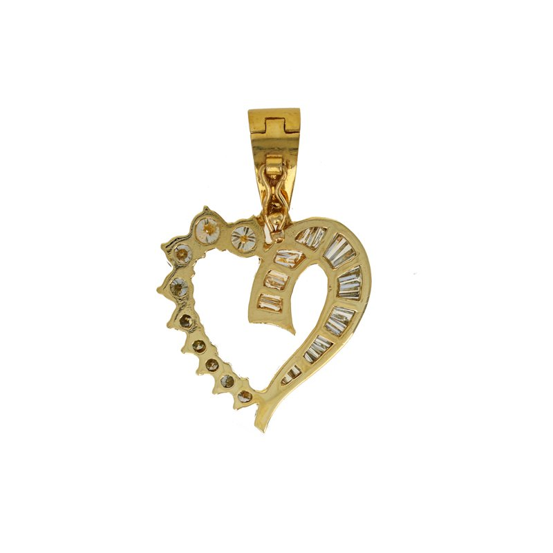 Estate Radcliffe Open Heart Diamond Pendant