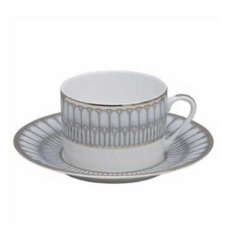 Philippe Deshoulieres Arcades Grey & Platinum Tea Cup