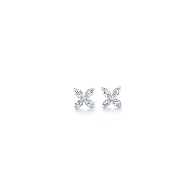 Kwiat Sunburst X Stud Earrings
