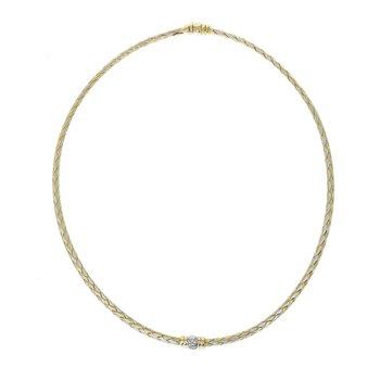 Woven Diamond Collar Necklace