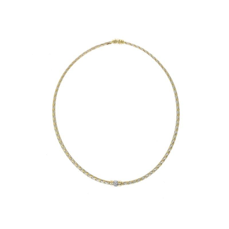 Estate Roberto Coin Woven Diamond Collar Necklace