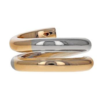 Two-Tone Diamond Coil Ring